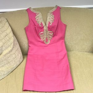 Dresses & Skirts - Lilly Pulitzer pink and gold dress